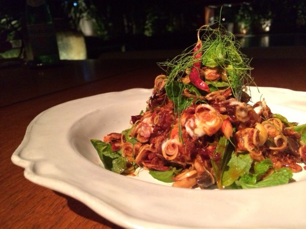 Prawn and mushroom salad