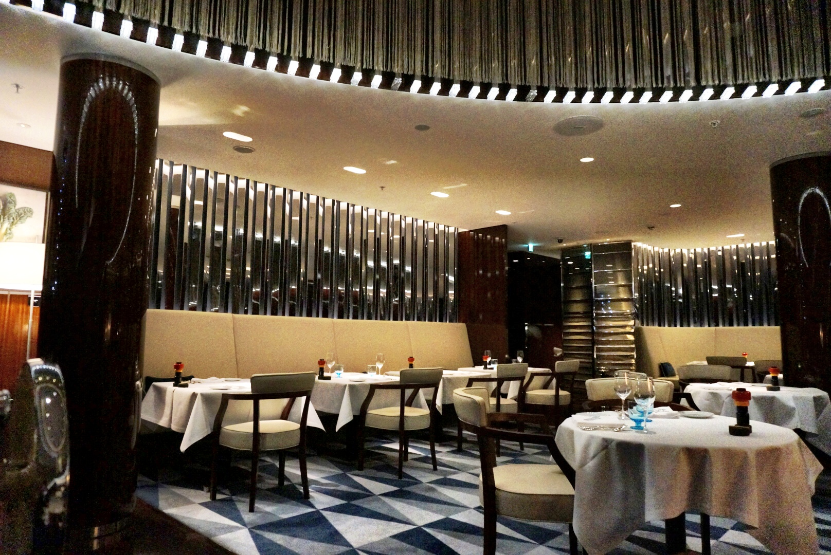 Rivea london dining in a cruise ship for Rivea restaurant