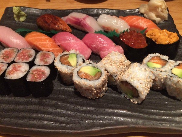 Nigiri selection at Ikeda London
