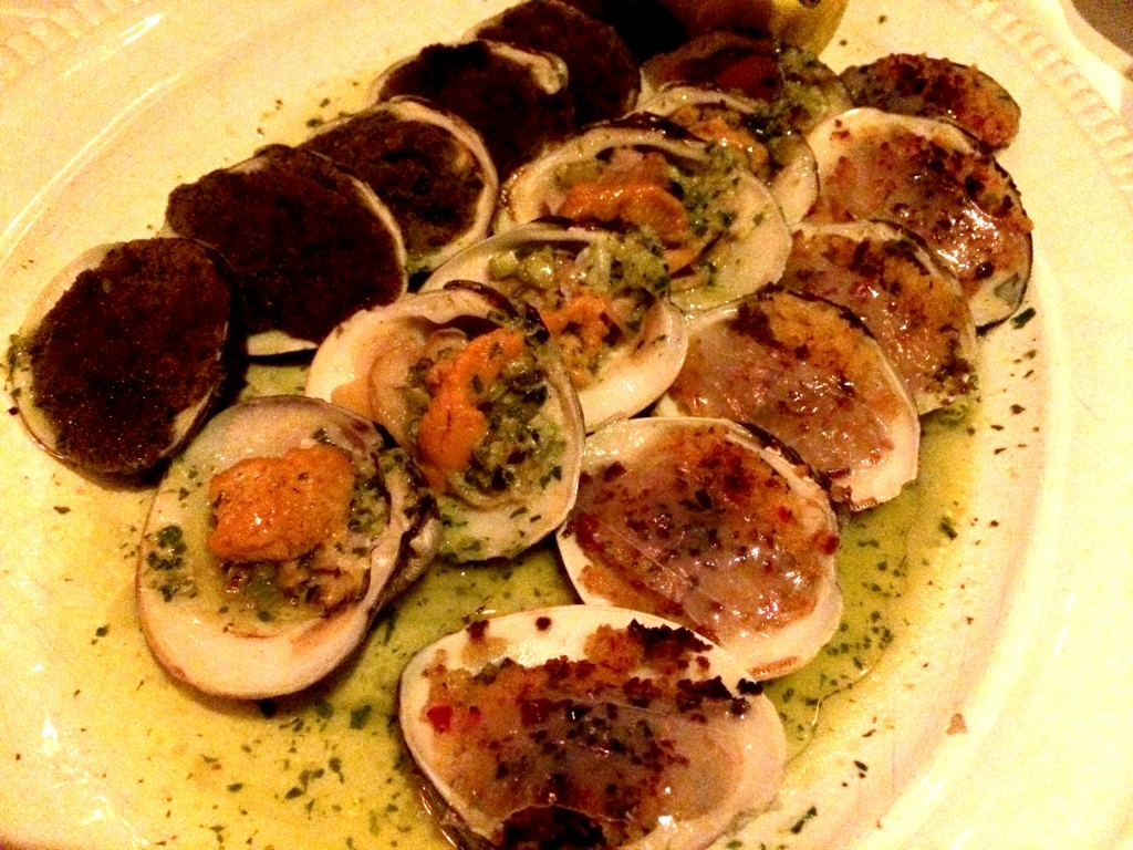 Clams multiple ways at Carbone NYC