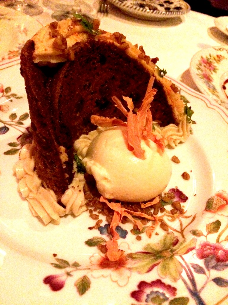 Carrot cake at Carbone NYC