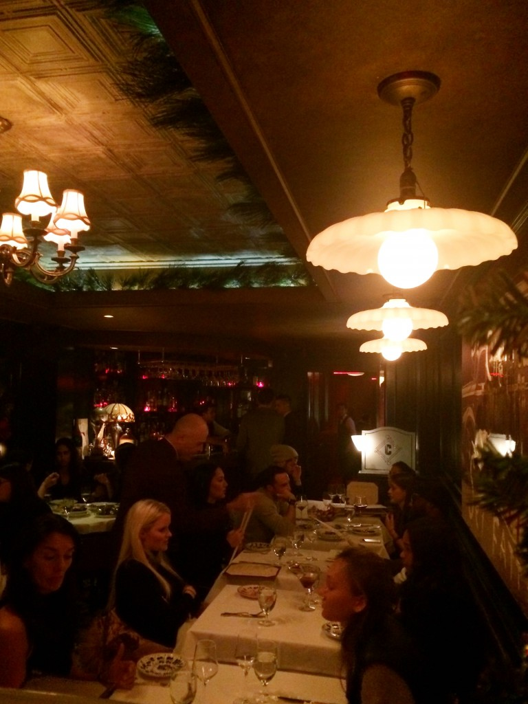 Old school dining area at Carbone NYC