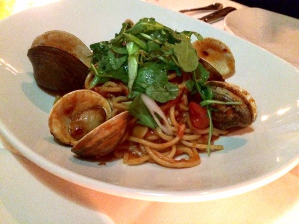 Spaghetti & clams at The Clam NYC