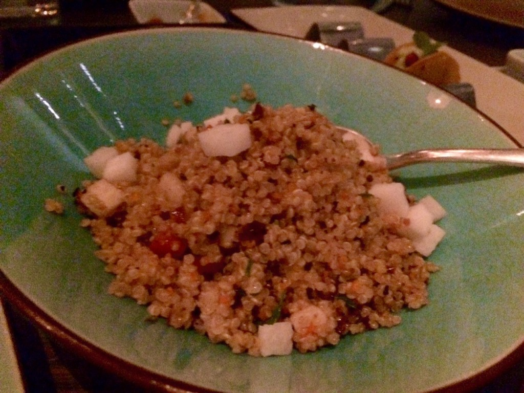 Quinoa at Peyote Restaurant Londo