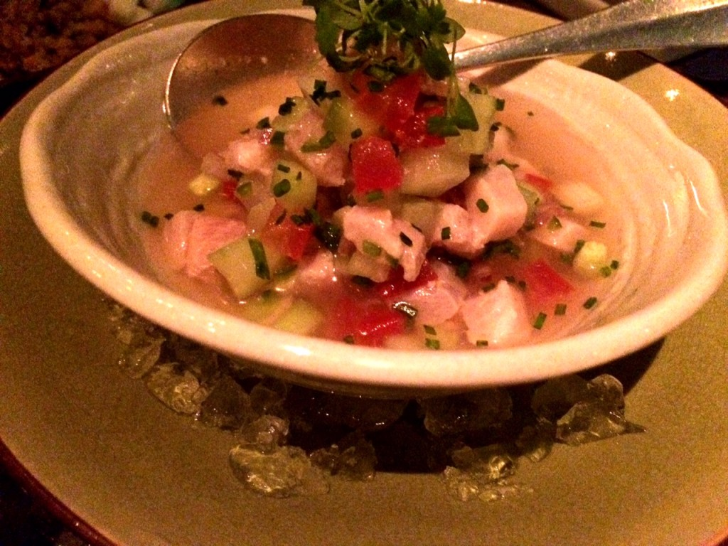 Ceviche de jurel at Peyote Restaurant Londo