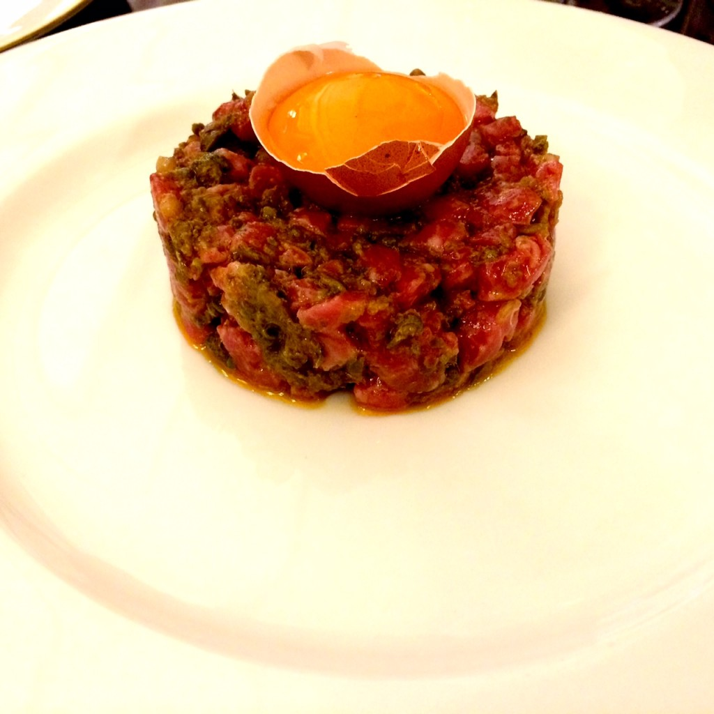 Steak tartare at 45 Jermyn Street Restaurant London