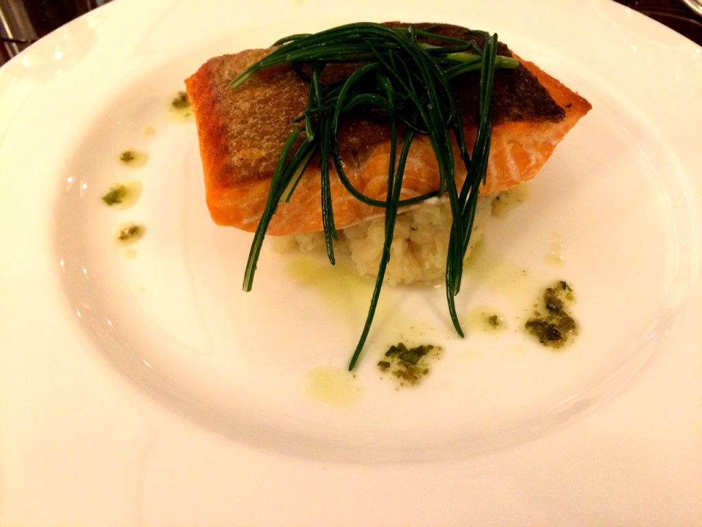 Trout with monk's beard at 45 Jermyn Street Restaurant London