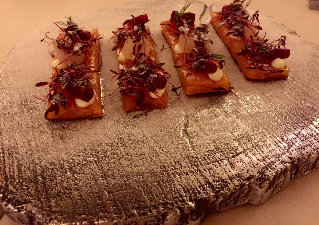 Smoked salmon: with malt bread at 50 Days of Adria