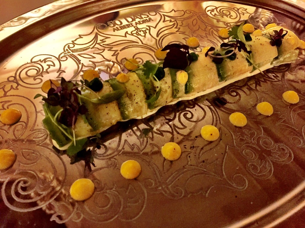 Canelon ( aka Spanish cannelloni) avocado and king crab: at 50 Days of Adria