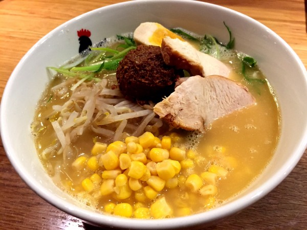 Miso ramen at Totto Ramen NYC