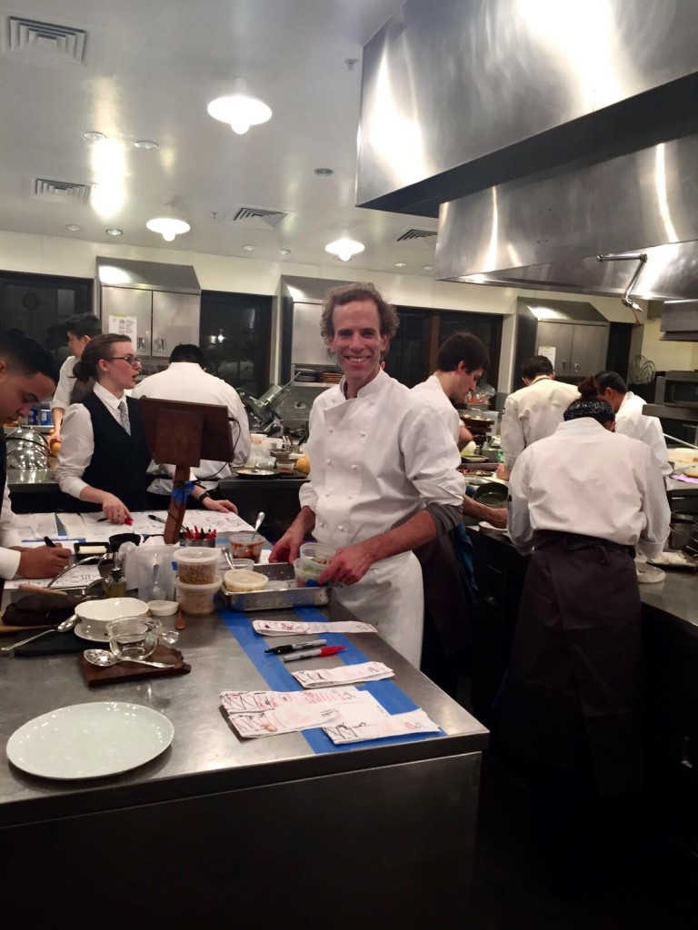 Dan Barber in action at Blue Hill Stone Barns' Kitchen