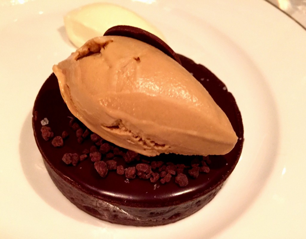 Chocolate tarte at Vaucluse NYC