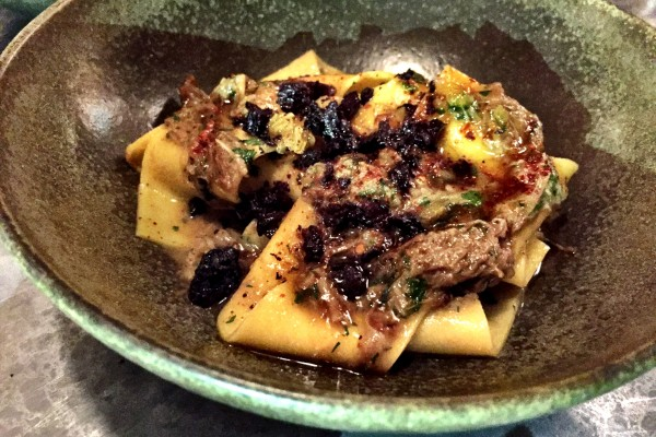 Smoked lamb ragu pappardelle at Frenchie London