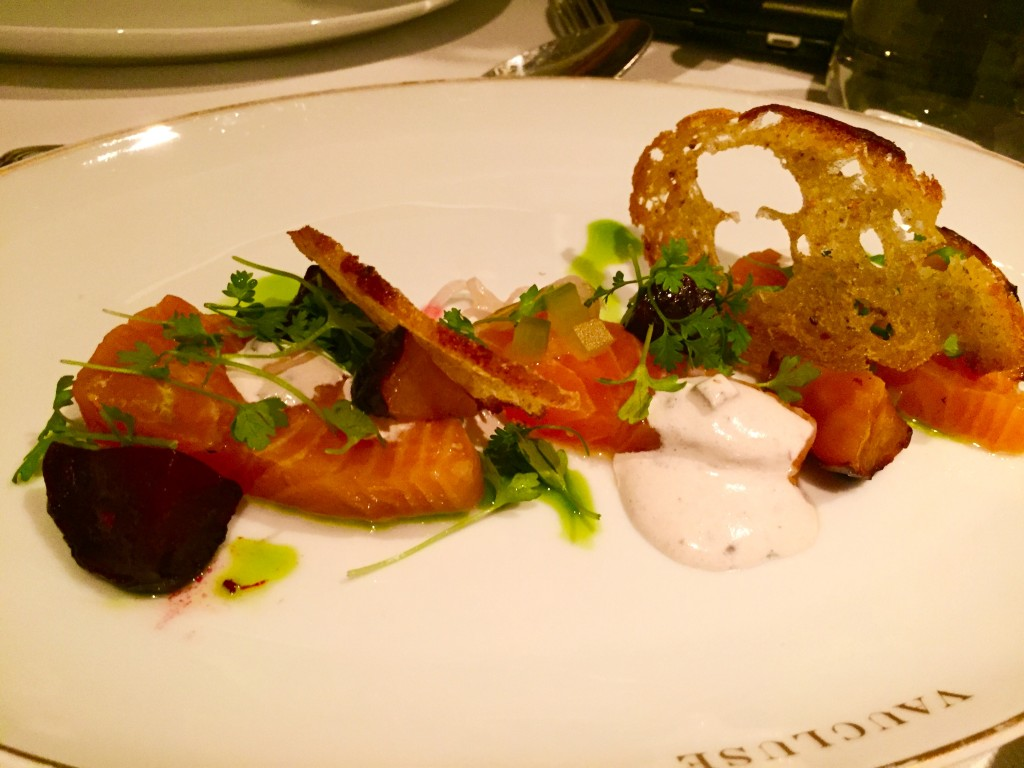 Smoked salmon At Vaucluse NYC