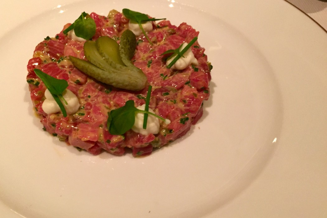 Beef tartare At Vaucluse NYC