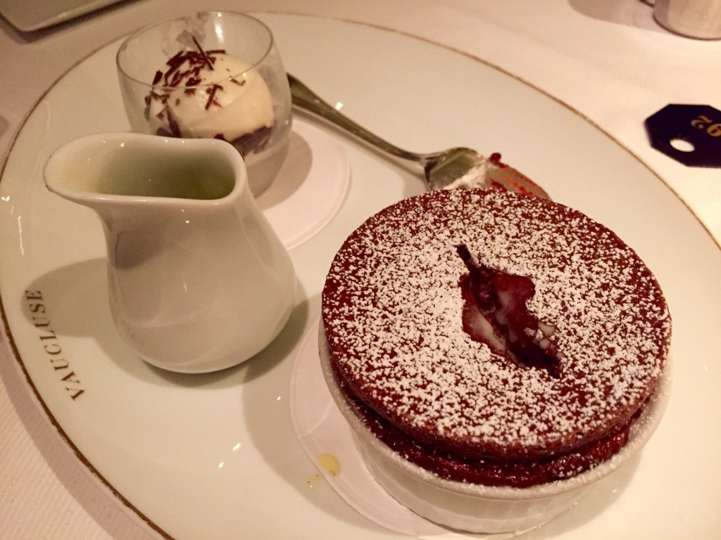 Chocolate soufflé at Vaucluse NYC