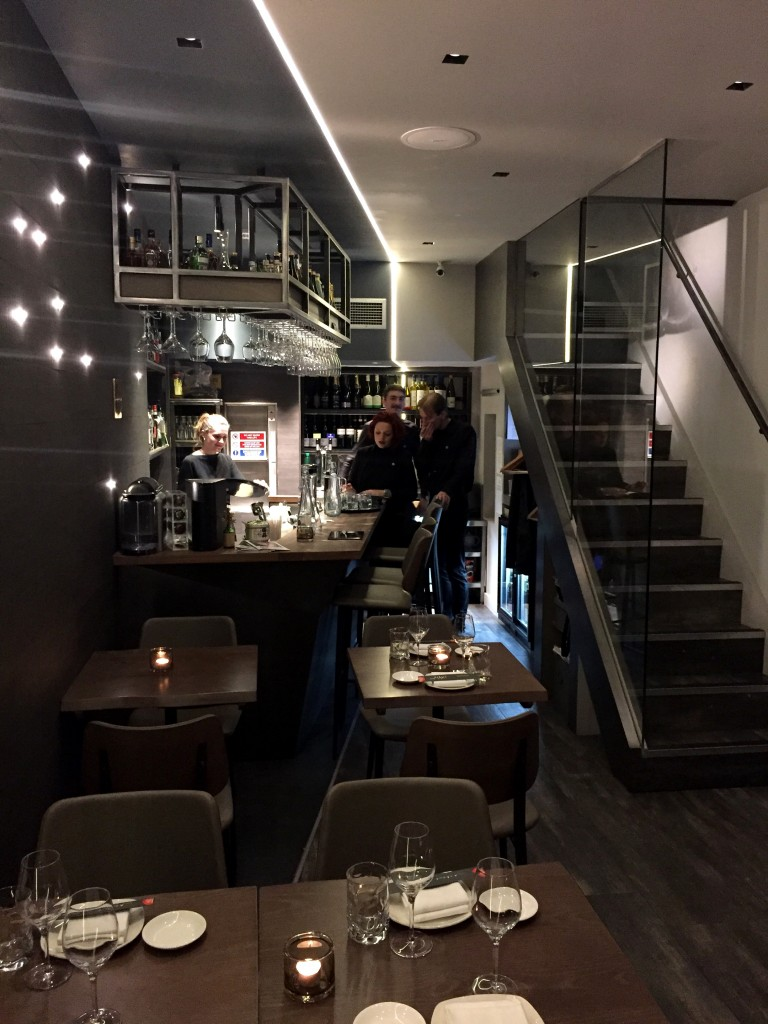 Downstairs dining at Oliver Maki