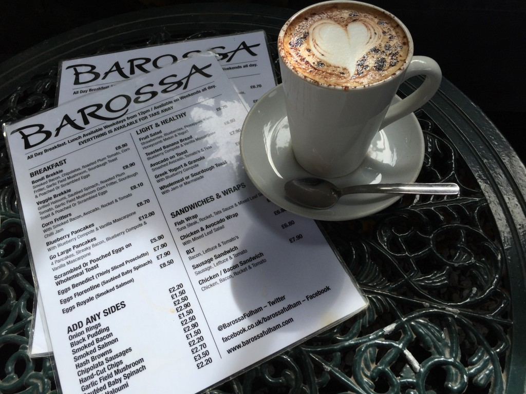 Coffee at Barossa Parsons Green