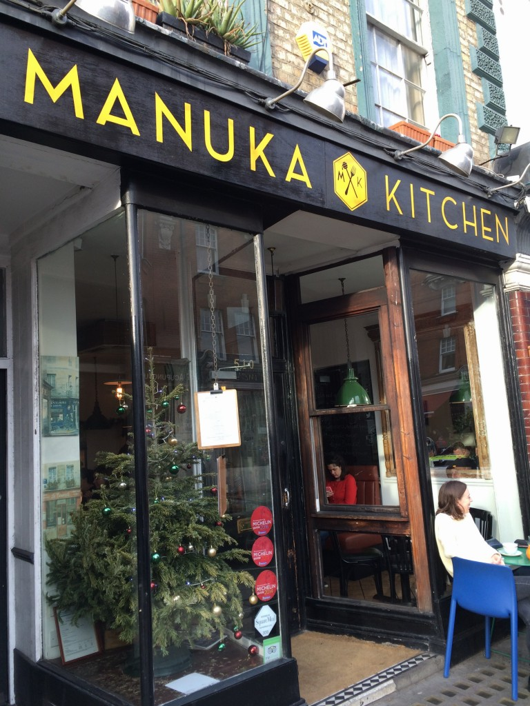 Outside at Manuka Honey Fulham