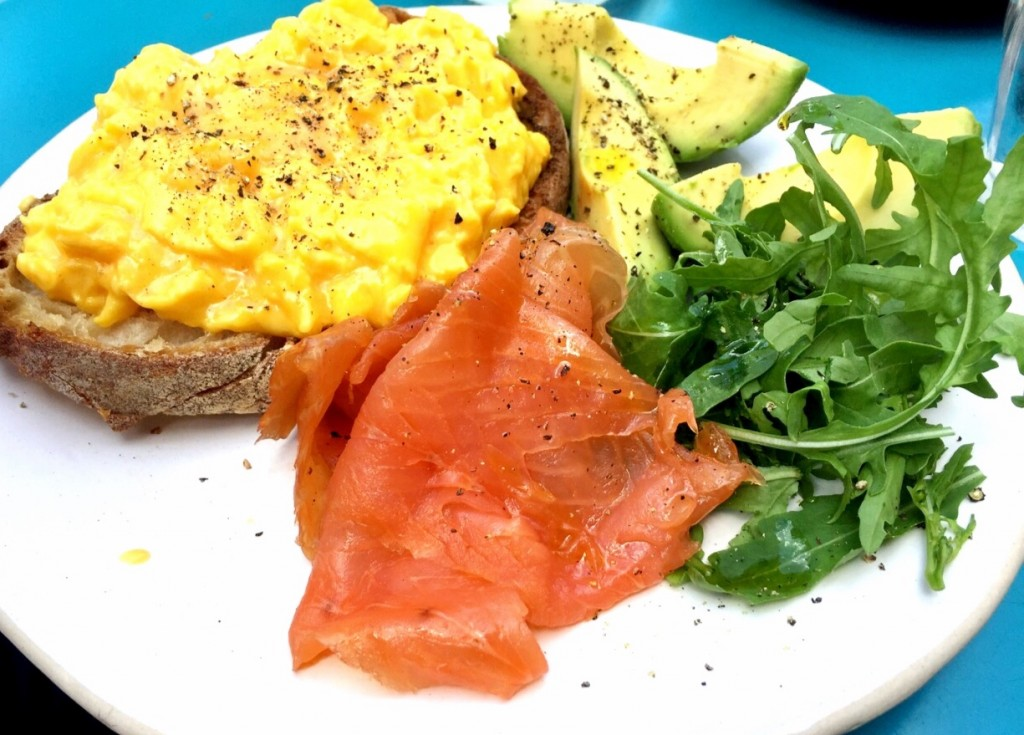 Scrambled eggs on toast at St Clements Parsons Green