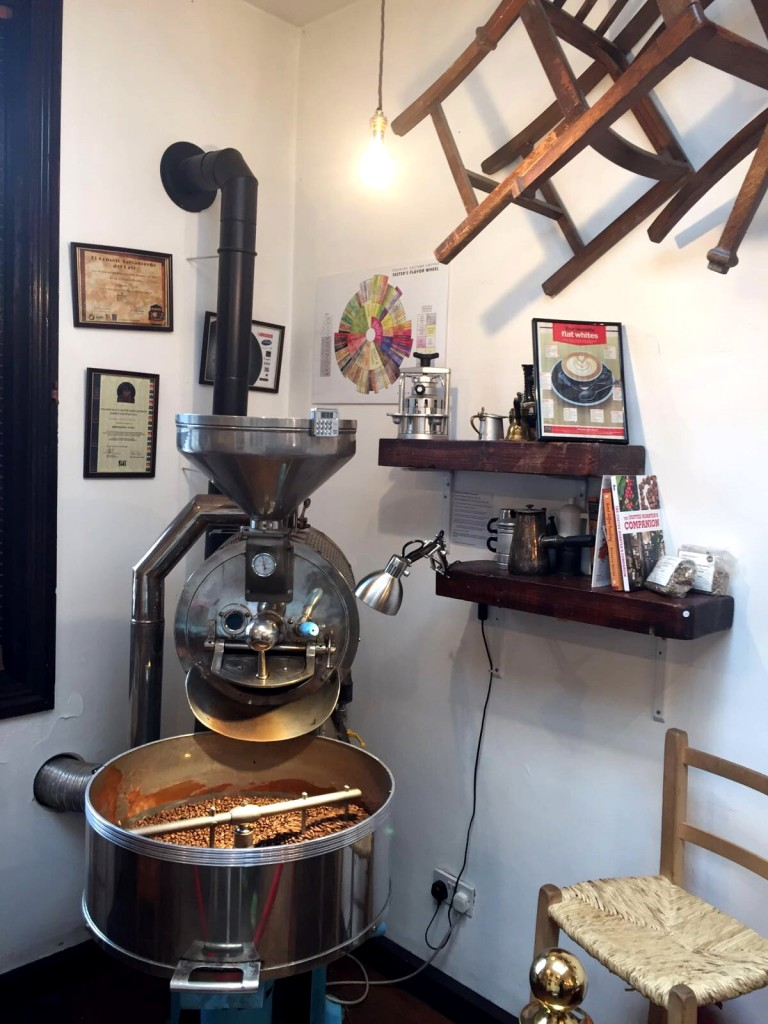 Coffee roaster at Chairs & Coffee Fulham