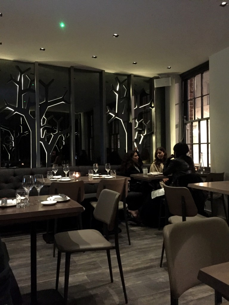 Upstairs dining at Oliver Maki