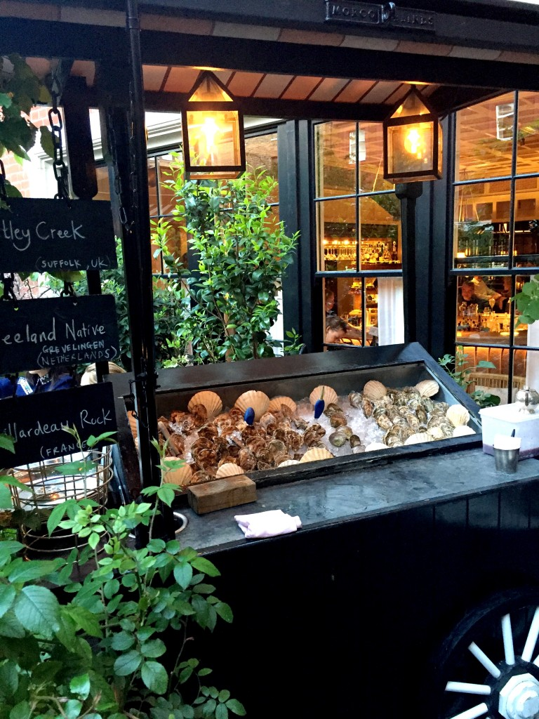 Oyster cart at Chiltern Firehouse