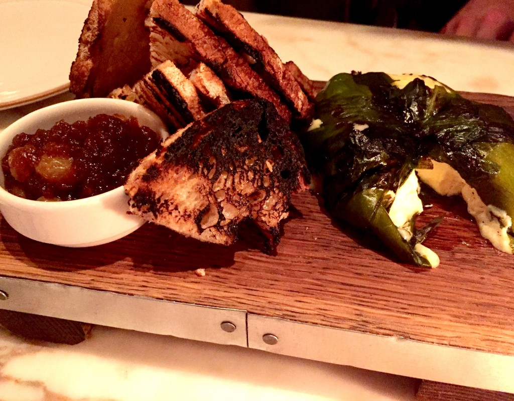 Grilled St. Jude cheese at Chiltern Firehouse