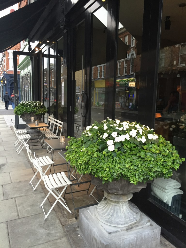 Outside at Koji Restaurant Parsons Green