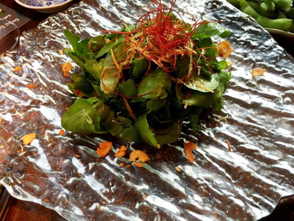 Watercress salad at Koji Restaurant Parsons Green