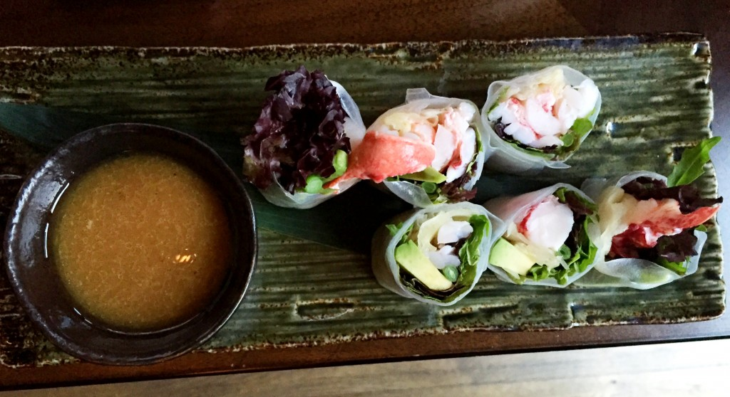 Lobster summer rolls at Koji Parsons Green