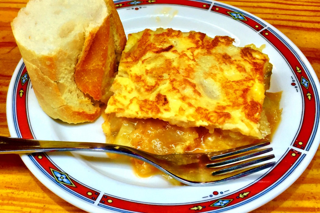 The tortilla at Bar Nestor - Best Tapas in San Sebastian