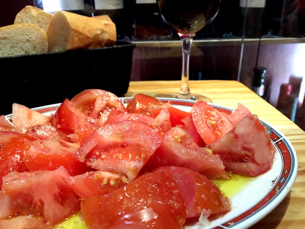 The tomato salad at Bar Nestor in San Sebastian