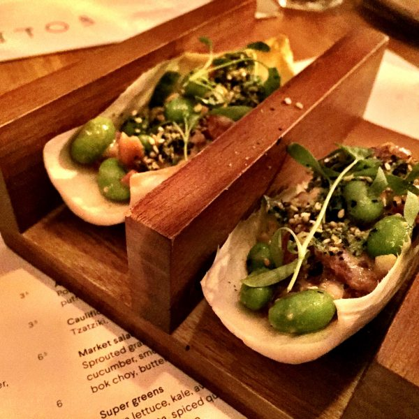Absolutely addictive ceviche tacos at Foley's London