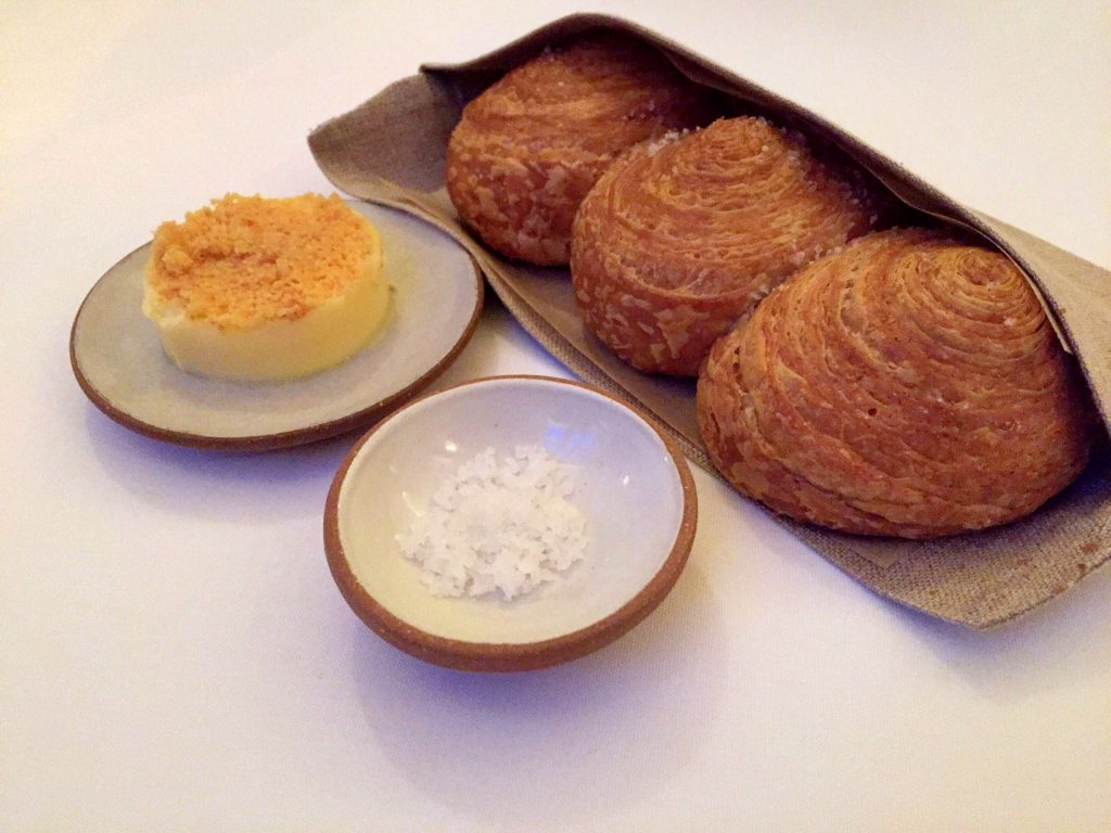 Flaky rolls with the most delicious butter at Eleven Madison Park