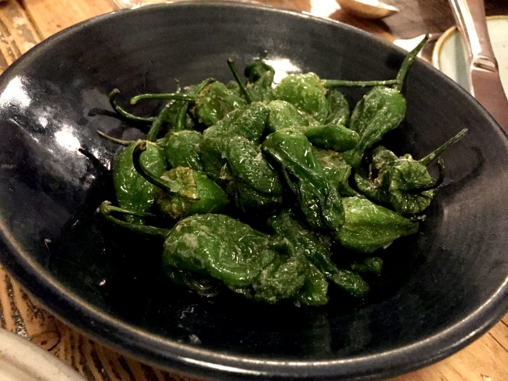 Padron peppers at Chicama Chelsea
