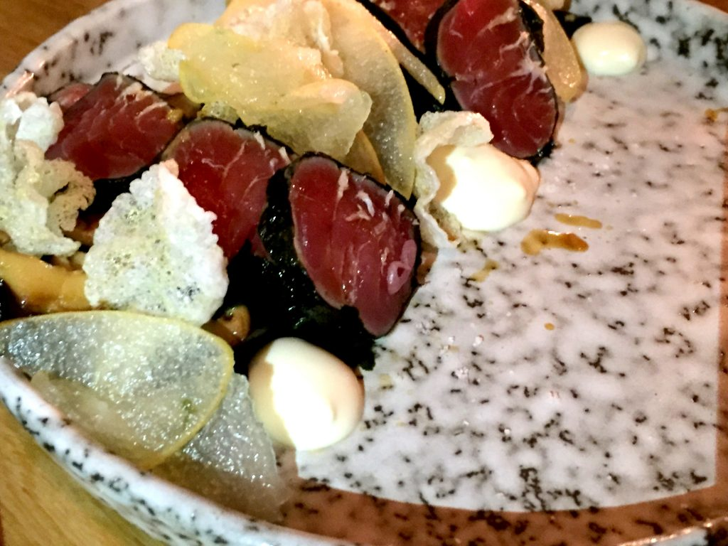 Nori wrapped tuna at Foley's London