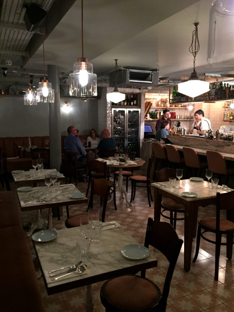 Dining room at Chicama Chelsea