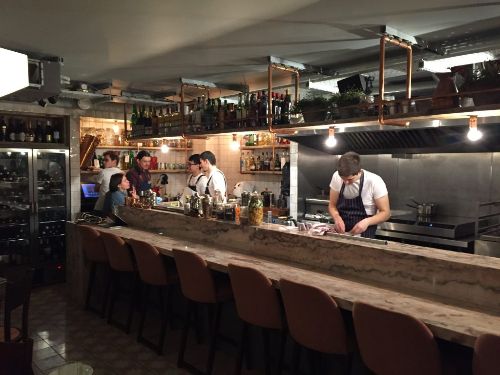 Great open kitchen at Chicama Chelsea