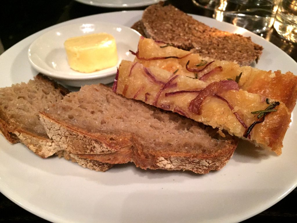 The bread plate at Noble Rot Bar London: The best dish!