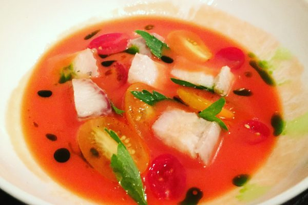 Gazpacho at Noble Rot Bar London