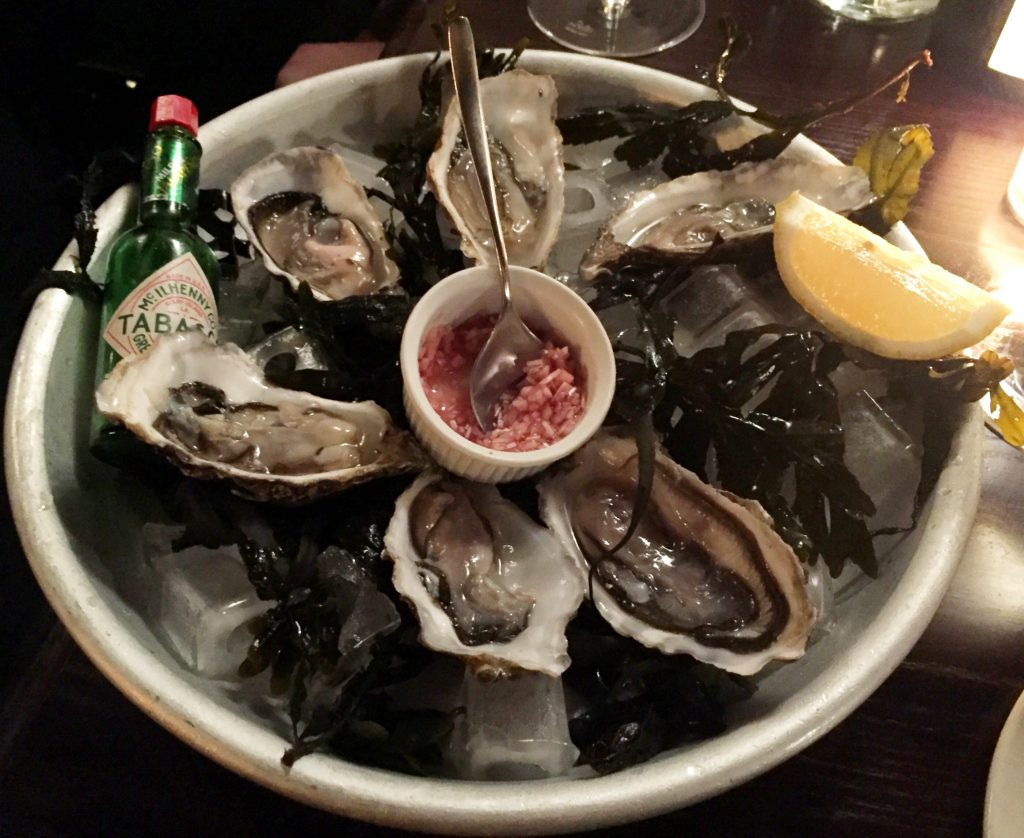 Oysters at Noble Rot Wine Bar