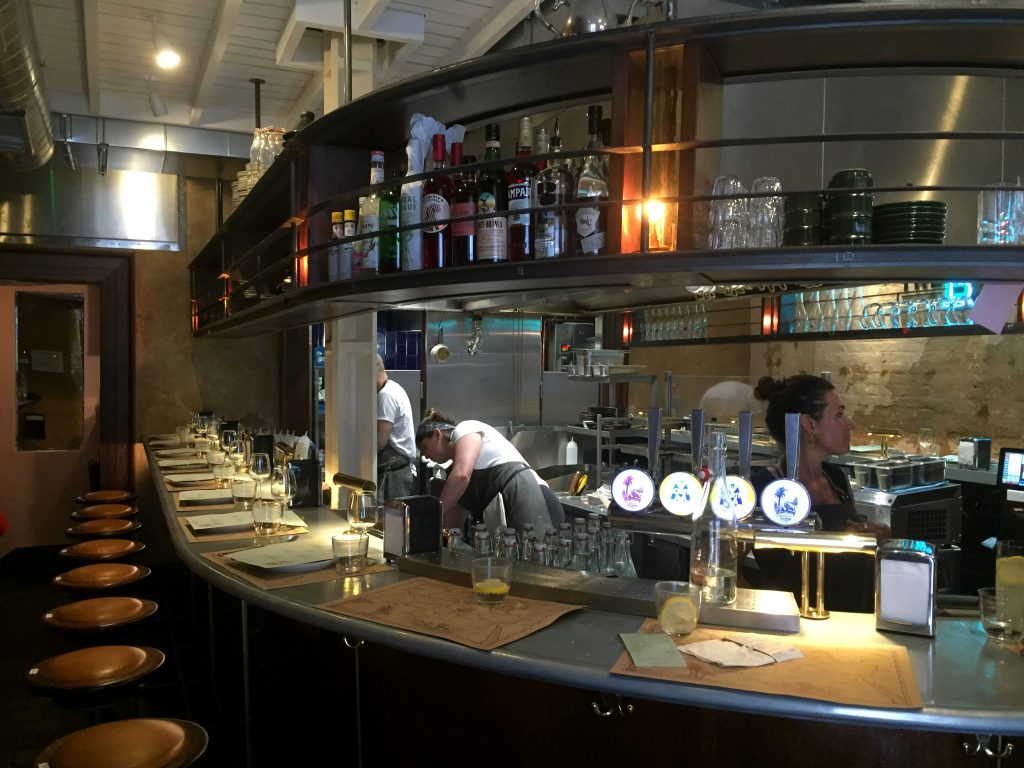 Counter seating at The Barbary London