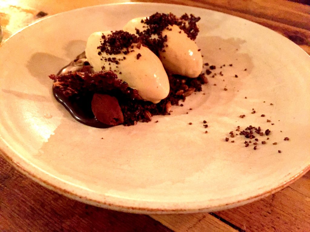 Salted caramel, cacao, malted barley ice cream at the Dairy London