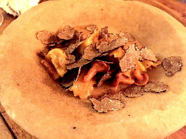 The absolutely delicious bone marrow agnolotti at The Dairy Clapham