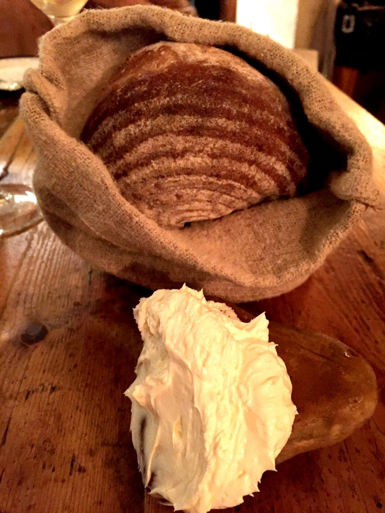 Perfect bread and smoked butter at The Dairy Clapham