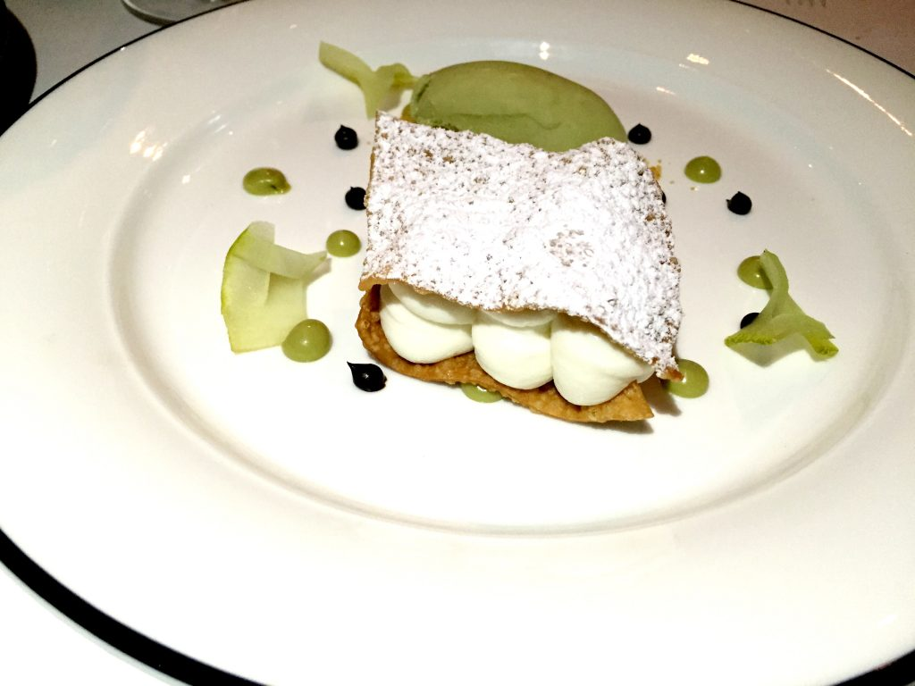 Flattened cannolo at Margot London