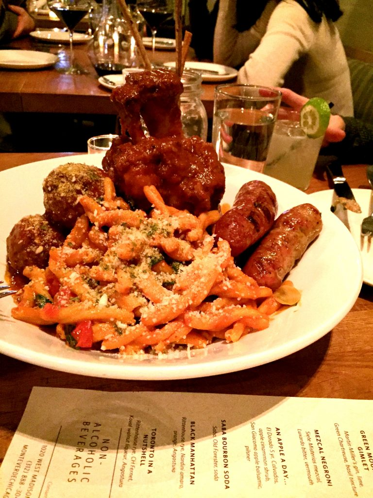 Pasta and meats for two at Monteverde Chicago
