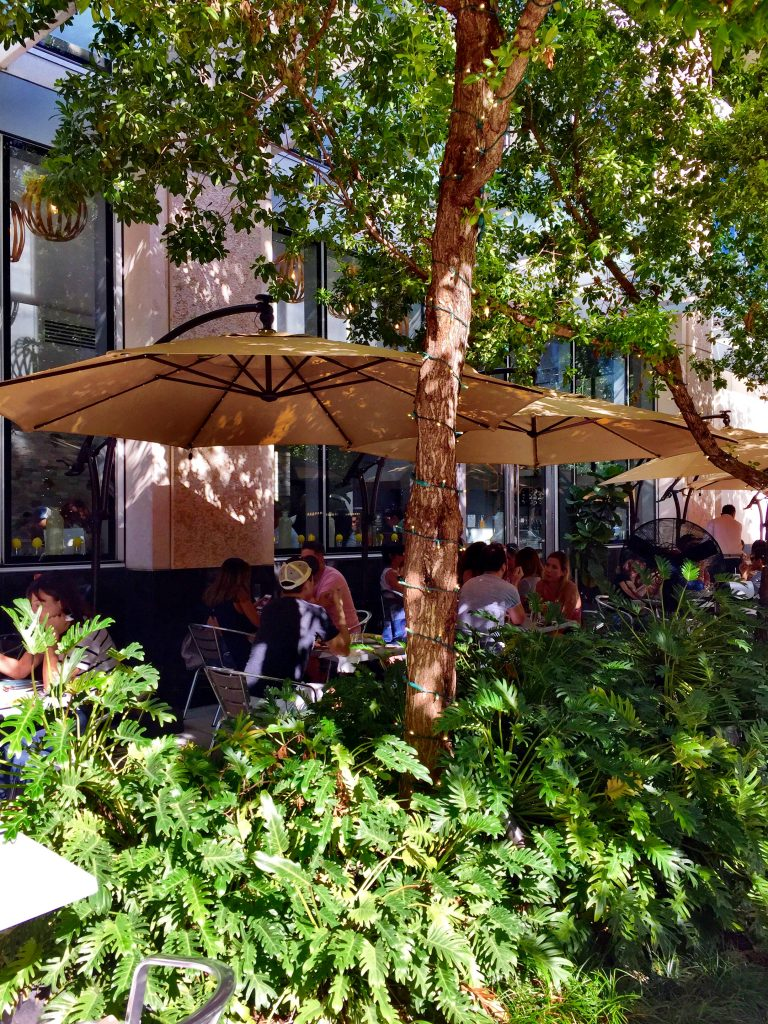 Outdoor area at Bachour Bakery Brickell Miami
