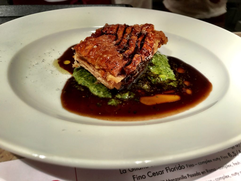 The absolutely greatest pork belly at Barrafina London